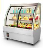 Showcase do bolo da parte superior de tabela/congelador do indicador/gabinete indicador da padaria