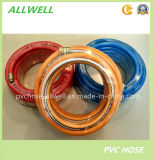 PVCプラスチック高圧繊維強化編みこみの空気スプレーの管のホース