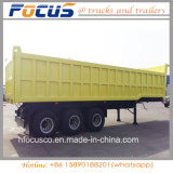 Aanhangwagen van de Stortplaats van de Cilinder van drie As de Hydraulische, de AchterAanhangwagen van de Vrachtwagen van de Kipwagen
