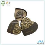Caja de regalo del embalaje de la forma del corazón de la cartulina de papel rígida para el cosmético o el té