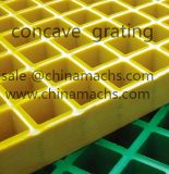Non-Conductive Concave Top Surface FRP Grating Square Mesh 19*19mm