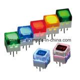 Momentary 500mA 200V DC com interruptor de botão de luz