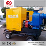 Bomba de agua de Diesel mueble con remolque de 6 pulgadas a 32 pulg.