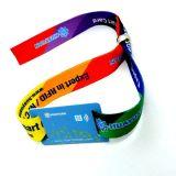 braccialetto del wristband tessuto RFID NFC del biglietto NTAG216 di eventi