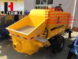 De aanhangwagen zette Concrete Pomp met Dieselmotor of Elektrische Motor op