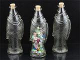 Bottiglia di profumo di vetro libera del vetro da bottiglia di vetro di vino di figura dei pesci del vaso di memoria di Smple