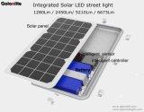 160lm/W 8W luminoso eccellente 1280lm tutto in un indicatore luminoso di via solare di illuminazione esterna Integrated LED
