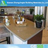 Parte superiore artificiale di vanità della stanza da bagno del quarzo & base d'appoggio di superficie solida della cucina