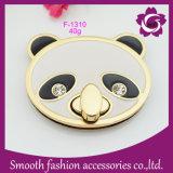 La mode Clip métallique Sac forme Panda tourner le verrou du matériel d'émail