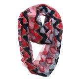 Lady Fashion imprimé de polyester en mousseline de grille de l'été l'infini foulard (YKY1105)