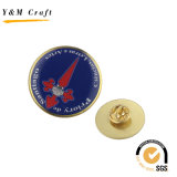 Diseño personalizado epoxi doming metal pin de solapa con alta calidad