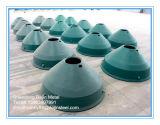 콘 쇄석기 부속, 오목한과 맨틀 - 착용과 예비 품목 Metso