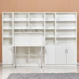 2018 белой деревянной компьютерный стол в книжном шкафу