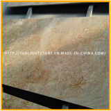 Pierres granitiques en or impal et or jaune poli pour plancher, mur