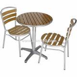 Table en bois en aluminium intérieur et extérieur (DT-06270S2)