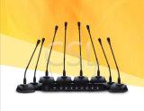 Pescoço de cisne de 8 canais de áudio conferência Sem Fio Microfone para sistema de conferência