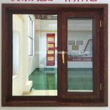Outswing-Fenster mit hölzerner Korn-Farben-Fertigstellung