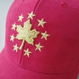 2018 Zoll-Veloursleder-Baseballmütze 100% mit glänzendem Stickerei-Firmenzeichen