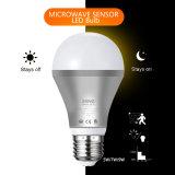 Indicatore luminoso di lampadina di microonda 5W 7W 9W LED con il rivelatore di movimento del radar
