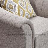 Design elegante contemporâneo Bege de móveis domésticos 123 Sofá de tecido