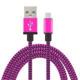 Кабеля USB Micro Colorfull заряжатель Nylon более быстрый и кабель Sync данных для черни Andriod