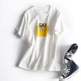 최신 디자인 고리 주문 여자 t-셔츠 공장