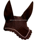 Velare su ordinazione della mascherina del cofano dell'orecchio della mosca di cavallo del Crochet della mano