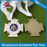 リボンが付いている長方形の形のカスタム子供の宗教メダル