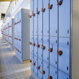 2017 nuevamente armarios de almacenaje hermosos de HPL para el club de la gimnasia