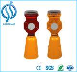 Whlosale дорожного заграждения светодиодный индикатор движения солнечной энергии на включение сигнальной лампы аварийной сигнализации