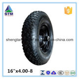 16 pollici 4.00-8 Rubber Pneumatic Air Solid Wheel per Wheelbarrow Hand Trolley