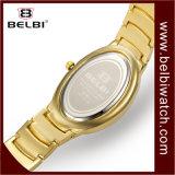 Belbi Form-Luxuxdiamant-Uhr-wasserdichte ovale volle Stern-Serien-Quarz Anolog Uhr