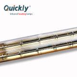 水晶二重管の金の反射鏡ハロゲン赤外線暖房ランプ