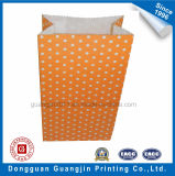 El papel impreso en Wavepoint color naranja de la bolsa de embalaje de alimentos