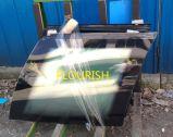 박판으로 만들어진 불규칙한 형태 배 유리