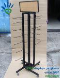 Rotation de la Filature de chaussettes de rack d'affichage du support en métal avec crochet en métal