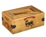 Malamute-Kastengroßer alaskischer Malamute-Geschenk-Weinlese-Speicher-Rahmen einzeln