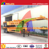 Halb Schlussteil-Hersteller 40 Fuß Behälter-skelettartiger Sattelschlepper-