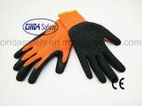 Латекс покрыл трудные защитные перчатки безопасности пользы зимы