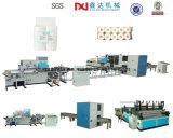 Cadena de producción automática completa de máquina de Rolls de la toalla de cocina del papel higiénico