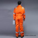 La sécurité 88%12%COTON retardateur de flamme en nylon Coverall Workwear avec bandes réfléchissantes (Bly1014)