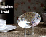 Gift Souvenir Wedding Favor를 위한 Crystal Base를 가진 추가 Faceted Crystal Glass Diamond