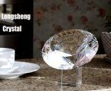 Meer Gefacetteerde Diamant van het Glas van het Kristal met de Basis van het Kristal voor de Gunst van het Huwelijk van de Herinnering van de Gift