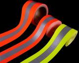 Oranje-zilveren-oranje Vlam - vertrager die Weerspiegelende Band waarschuwen