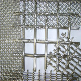 正方形の装飾的なステンレス鋼の編まれたひだを付けられた金網