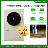Amb. -25c hiver100~350de chauffage au sol de la chambre Salle de mètre carrés 12kw/19kw/35kw Evi Air Source meilleure pompe à chaleur Split chauffe-eau condenseur