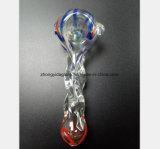 Transparentes Glaswasser-Rohr Farben-Muster-Filter-Rauch