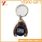 Trousseau de clés de pièce de monnaie de chariot avec le support en alliage de zinc (YB-LY-K-14)
