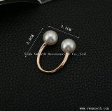 기하학적인 숫자 진주 브로치 원형 단추 Pin 숄 스카프 부속품