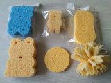 Dar forma a Face de esponjas de banho colorida limpeza corporal esponja de celulose